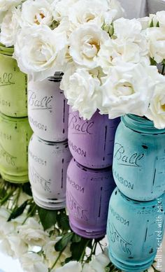 Ball mason jar DYI pretties... Now how do i get it to look like  that