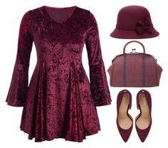 """Dark burgundy velvet"" by oliverab ❤ liked on Polyvore featuring rosegal"