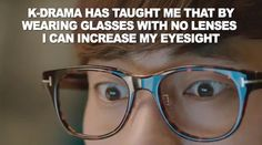 yeah seriously, what's the point of wearing glasses' frame then?!