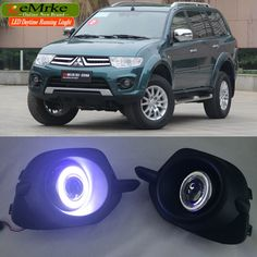 eeMrke LED Daytime Running Lights For Mitsubishi Pajero Sport LED Angel Eye Fog Light Exact-Fit Fog Bumper with Projector Lens Mitsubishi Pajero Sport, Led Angel Eyes, Projector Lens, Car Lights, Running, Fit, Sports, Watch, Racing