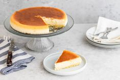 """Junior's Authentic New York Cheesecake Recipe - - Junior's in Brooklyn, New York is known for their delicious original cheesecake. You can make it at home using this recipe from """"Junior's Home Cooking. Authentic New York Cheesecake Recipe, Jr Cheesecake Recipe, Original Cheesecake Recipe, Instant Pot Cheesecake Recipe, Best Cheesecake, Classic Cheesecake, Easy Cheesecake Recipes, Dessert Recipes, The Cheesecake Factory"""