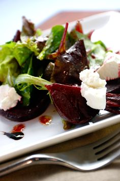 A recipe for oven-roasted beets spiced with fresh rosemary, thyme and savory garlic. Serve with goat cheese atop fresh greens for a delicious starter or side.