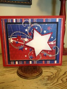 Big Busy B's Fun In The Sun collection #4th of July #card #scrapbook #patriotic