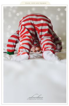 peace love pajamas Christmas photo pose child