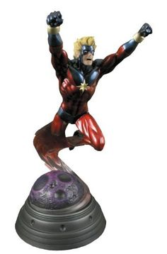 "Bowen Designs Captain Marvel Painted Statue by Bowen Designs. $232.95. Digitally sculpted by Joseph Menna. Strictly limited. A Bowen Designs sculpt. Stands 14"" tall overall (to top of hands). Display ready. From the Manufacturer                A Bowen Designs Sculpt. A soldier for the Kree Empire, sent to Earth to assess its technological capabilities in the event of its future conquest by the Kree, Mar-Vell came to love the world he was sent to spy upon and took a costumed hero..."