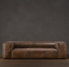 comfortable brown leather couch