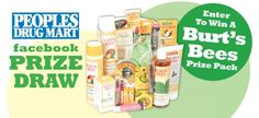 Win A Burt's Bees Prize Package enter at  https://basicfront.easypromosapp.com/p/210825?uid=632993554