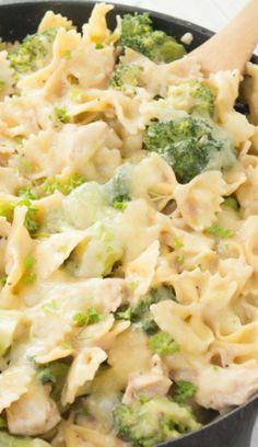 Chicken, Broccoli,  Pasta Skillet Casserole