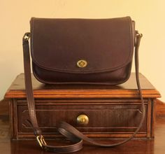Coach City Bag In Mahogany Leather With Cross Body Strap Style No 9790 - Very Good Condition by ProVintageGear on Etsy