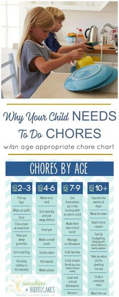 Chores for children are important for so many reasons. They help them learn life skills, responsibility and give them a sense of pride for contributing to their family. Printable Chore Chart included with chores by age. #parentingadvice Chore Chart Toddler, Chore Chart By Age, Kids Chore Charts, Chore Chart For Toddlers, Toddler Chores, Printable Chore Chart, Toddler Behavior, Parenting Ideas, Parenting Articles