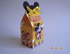 Caixa Milk Mickey Mouse Mickey Mouse, Mickey E Minie, Mikey, Mickey Party, Packing Boxes, Carpe Diem, Party Favors, Decorative Boxes, Scrapbook