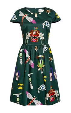 Julie Printed Cotton Dress by Mary Katrantzou - Moda Operandi