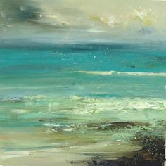 'Sea treasure' by Claire Wiltsher (80x80cm, mixed media, £995) now at www.lyndhurstgallery.co.uk