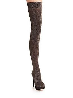 Charlotte Olympia More Is More Platform Thigh-High Boots