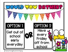 Funny Would you Rather Questions would you rather summer kids funny would you rather for kids Funny Would You Rather, Would You Rather Questions, Fun Games, Games For Kids, Fun Classroom Games, Family Fun Night, Rainy Day Activities, Team Building Activities, Brain Breaks