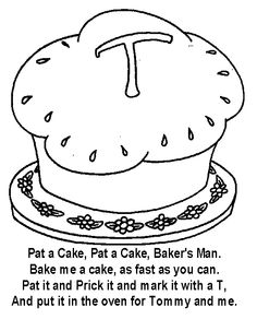 nursery rhymes coloring pages patty cake 2
