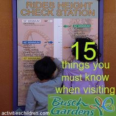 One full day was not enough to cover everything at Busch Gardens Tampa. Careful planning is a must if you want to make most out of your day. Here's 15 things that would help you with planning a day at Busch Gardens Tampa.
