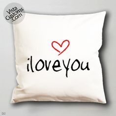 i love you quotes pattern pillow case, cover ( 1 or 2 Side Print With Size 16, 18, 20, 26, 30, 36 inch )