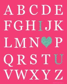 Valentine's Day Printable: I {HEART} U