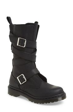 Free shipping and returns on Dr. Martens 'Lauren' Lug Military Boot (Women) at Nordstrom.com. No-nonsense lugging complements the rugged utilitarian style of an iconic leather military boot refreshed with wraparound straps and a slimmed-down silhouette.