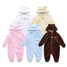 9e824b936 Happy childhood One Piece Warm Coral Fleece Romper Bodysuit for Newborn  Unisex Baby Footed Jumpsuit (