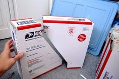 Cut and decorate flat rate boxes for magazine holders...you can get these boxes free from the post office.