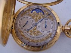 The second face of a two-sided antique Girard Perregaux pocket watch