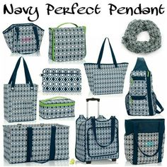 Thirty-One Fall/Winter 2016 Pattern, Navy Perfect Pendant #31 #ThirtyOne… www.mythirtyone.com/1852160