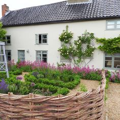Home sweet home photo from last summer, im so pleased to have a weekend at home it's such a treat, it's been such a busy week so many quotes I'm feeling exhausted. Thrilled to be busy but looking forward to Sunday ! Hope you all have a lovely weekend . Love Garden, Dream Garden, Home And Garden, Glass Garden, Amazing Gardens, Beautiful Gardens, Willow Fence, English Country Gardens, Garden Cottage