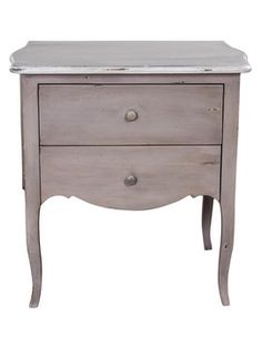Louise Bedside Table with 2 Drawers from Bedroom on Gilt