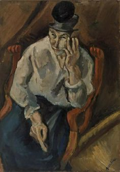 Woman Seated in Armchair (Femme accoudée au fauteuil)  c. 1919 Oil on canvas 92.4 x 65.4 cm  Barnes foundation, Philadelphia
