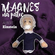Kukiełka magnes Albert Einstein