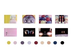 research imagery- screenshots from the triadic ballet, gathering a colour palette.