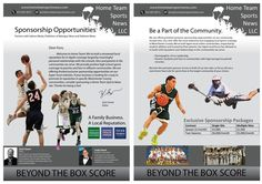Create a Sponsorship brochure for a local sports news outlet by Mary Niki Small Business From Home, Custom Postcards, Home Team, Sports News, Mary, Student, Create, Raising, Football