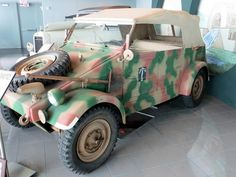 Tampa Bay Automobile Museum.  1939 Kubelwagen Type 82.  The German equivalent of the Jeep, with Rommel's palm logo on its side