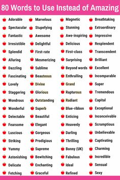 80 Words to Use Instead of Amazing Essay Writing Skills, English Writing Skills, Book Writing Tips, Writing Words, English Lessons, English Vocabulary Words, Learn English Words, English Grammar, Creative Writing Tips