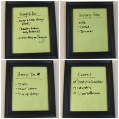 DIY Dry Erase Boards to Use All Over the House