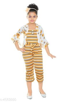Checkout this latest Dungarees & Jumpsuits Product Name: *Kid's Girl's Jumpsuits* Sizes:  3-4 Years, 4-5 Years Easy Returns Available In Case Of Any Issue   Catalog Rating: ★4.1 (782)  Catalog Name: Kid's Girl's Jumpsuits Vol 1 CatalogID_661762 C62-SC1156 Code: 503-4569990-618