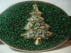 Christmas Belt Buckle  Oh Christmas Tree by MnMTreasures on Etsy
