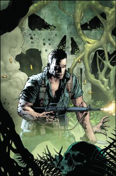 Punisher - The Platoon 02 Variant Cover by Andy Brase The Punisher, War Comics, Marvel Comics, Comic Books Art, Comic Art, Frank Castle Punisher, Fantasy Art, Pop Art, Superhero
