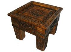 60x60 Cm Antik Look Kolonialstil Orient Teetisch Tisch Couchtisch Nuristan  Nr 9 | The Masterpiece Of Oriental Wooden Furniture | Pinterest | Wooden ...