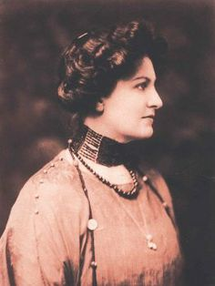 Alma Mahler (1907) was a viennese socialite well known in her youth for her beauty and vivacity. She became the wife, successively, of composer Gustav Mahler, architect Walter Gropius, and novelist Franz Werfel, as well as the consort of several other prominent men.