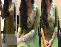 Zuleiha Anarkali Tops, Anarkali Kurti, Churidar, Salwar Kameez, Sarees, Designer Wear, Designer Dresses, Girl Trends, Dress Neck Designs