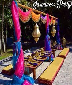 Wedding indian theme arabian nights 28 Ideas for 2020 Arabian Nights Prom, Arabian Party, Arabian Nights Theme, Arabian Theme, Moroccan Theme Party, Indian Party Themes, Indian Theme, Jasmin Party, Princess Jasmine Party