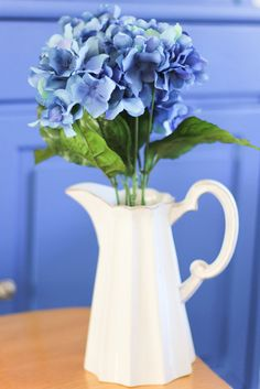 Your place to buy and sell all things handmade Aliso Viejo, South Orange, Mission Viejo, Ceramic Pitcher, Lake Forest, Blue Hydrangea, Bouquet, Rustic, Spring