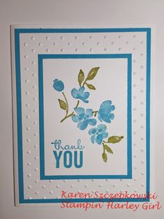 Stampin' Up! Thank You Card