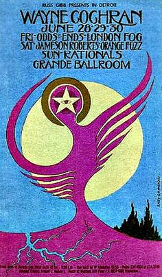 This concert postcard is from 6-28/9/30-68. at the grande ballroom..The bands performing were,  JUNE 28/FRIDAY..1968. --Wayne Cochran. --Odd...