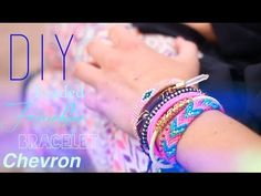 DIY : BRACELET BRESILIEN AVEC PERLES - BEADED FRIENDSHIP BRACELET CHEVRON  (En français with english subs)