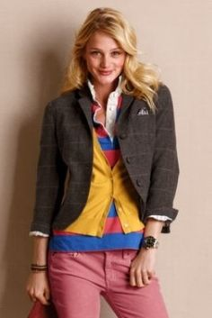 A friendly reminder to layer cardi and tweed jacket :o) necessary layers for classrooms during winter!