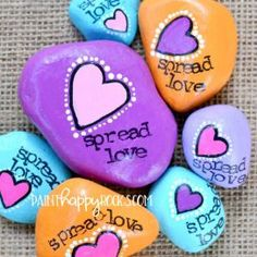 Love Painted Rock For Valentine Decorations Ideas 39